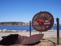 Cook's Lobster House Sign