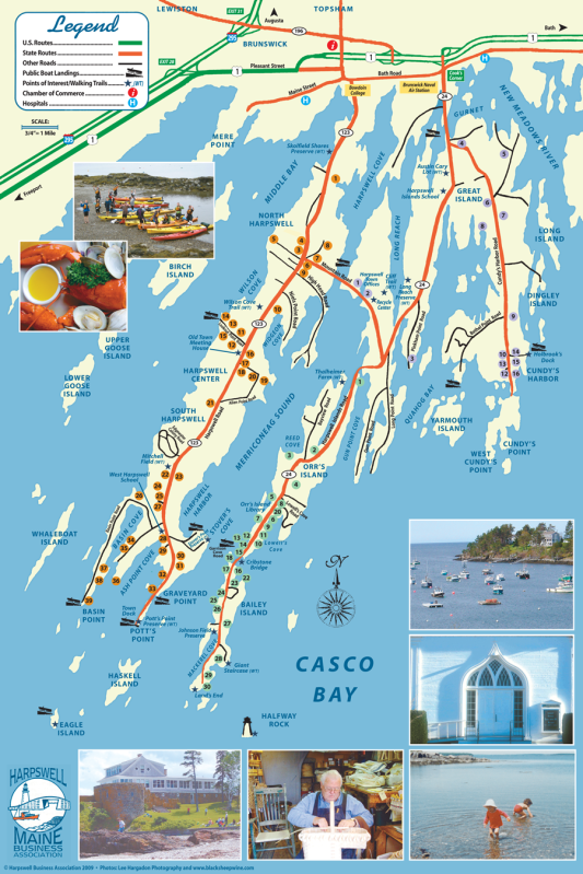 Harpswell Maine Map Maine Mid Coast Tours