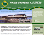 Maine Eastern Railroad Brunswick Maine to Rockland